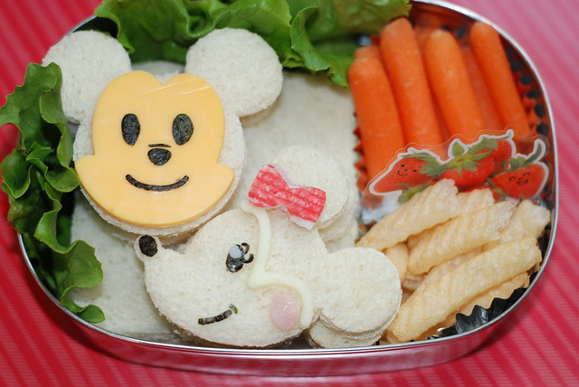 Mickey and Minnie Mouse Bento Box Lunch