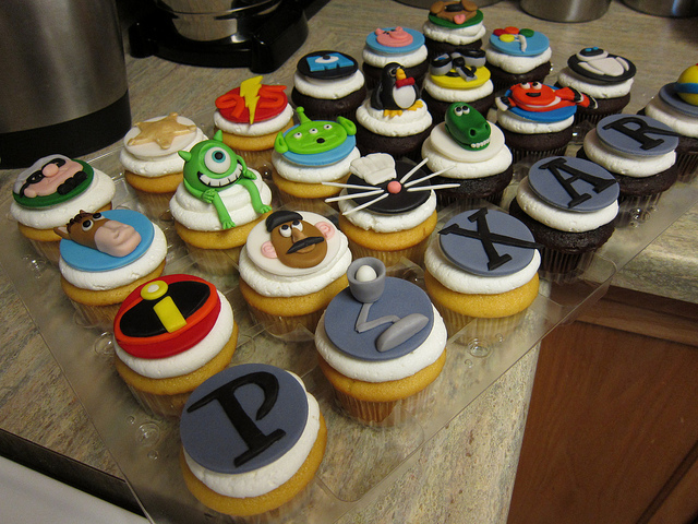 Pixar Movie Cupcakes