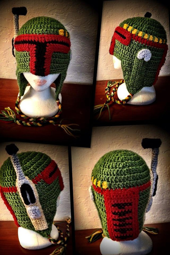 Star Wars Bounty Hunter Boba Fett Inspired Crochet Hat