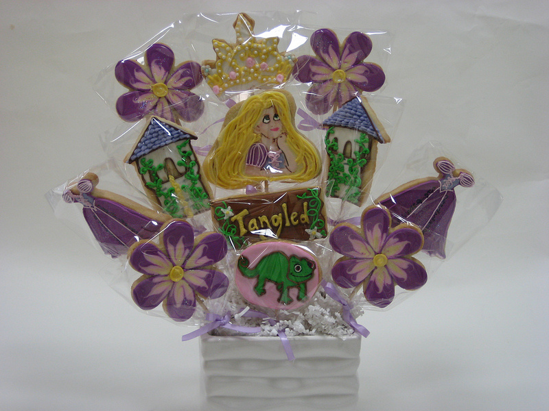 Disney Tangled Cookie Bouquet
