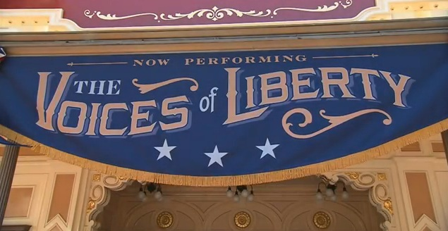 The Voices of Liberty Banner Disneyland