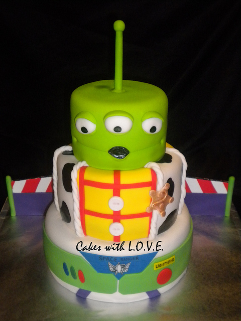 Three Layer Disney Toy Story Birthday Cake