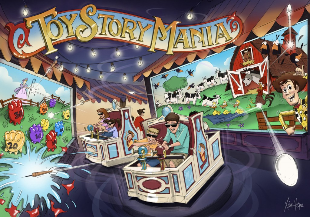 Flashback Friday: Toy Story Midway Mania Concept Art