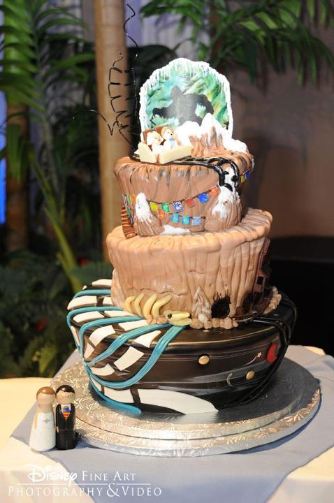 Walt Disney World Roller Coaster Mountains Wedding Cake