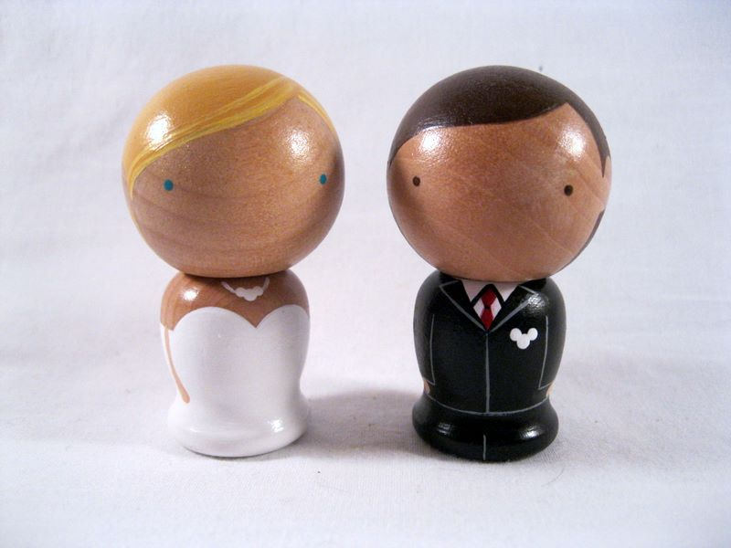 Wooden Disney Bride and Groom