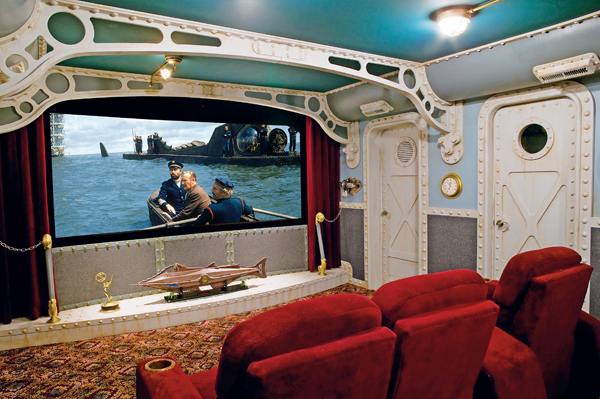 "Stunning Disney ""20000 Leagues Under the Sea"" Private Home Theater"