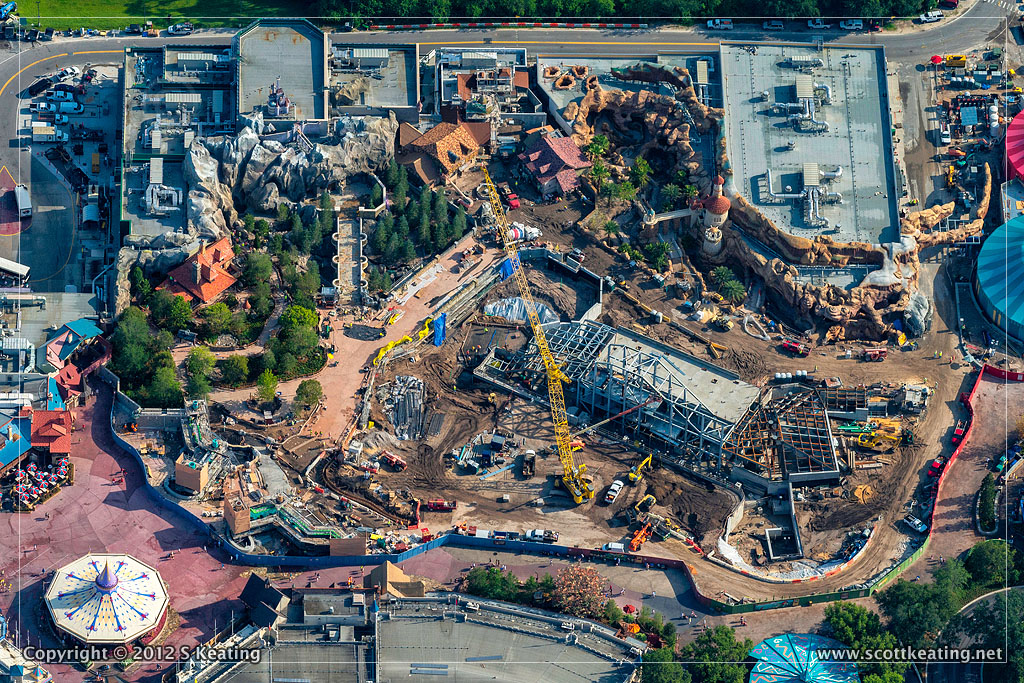 Brand NEW Aerial Photographs of the Fantasyland Construction in the Magic Kingdom at Walt Disney World
