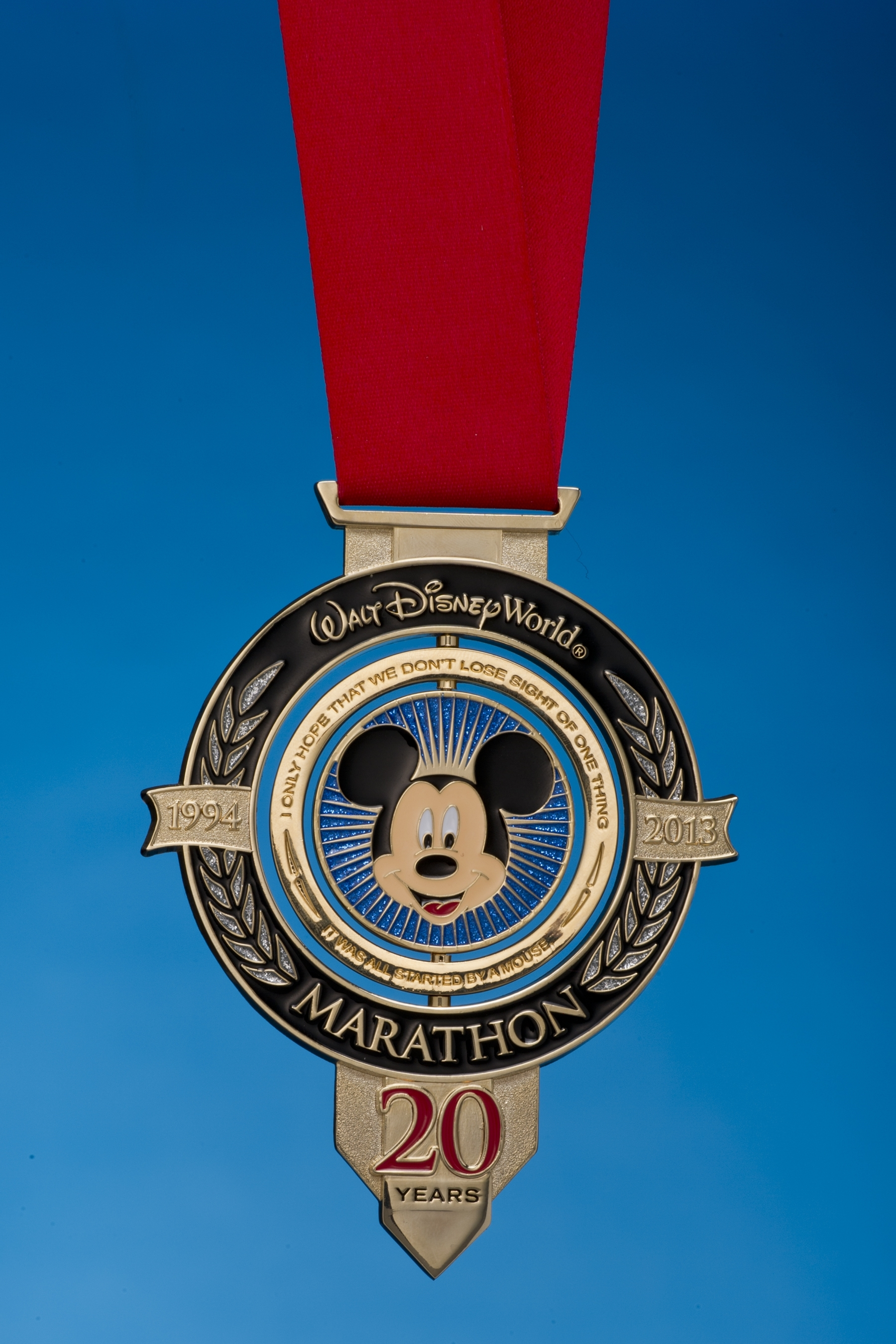 20th Anniversary Medal Walt Disney World Marathon 2013
