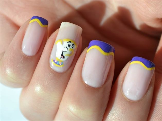 Beauty and the Beast Chip Disney Manicure