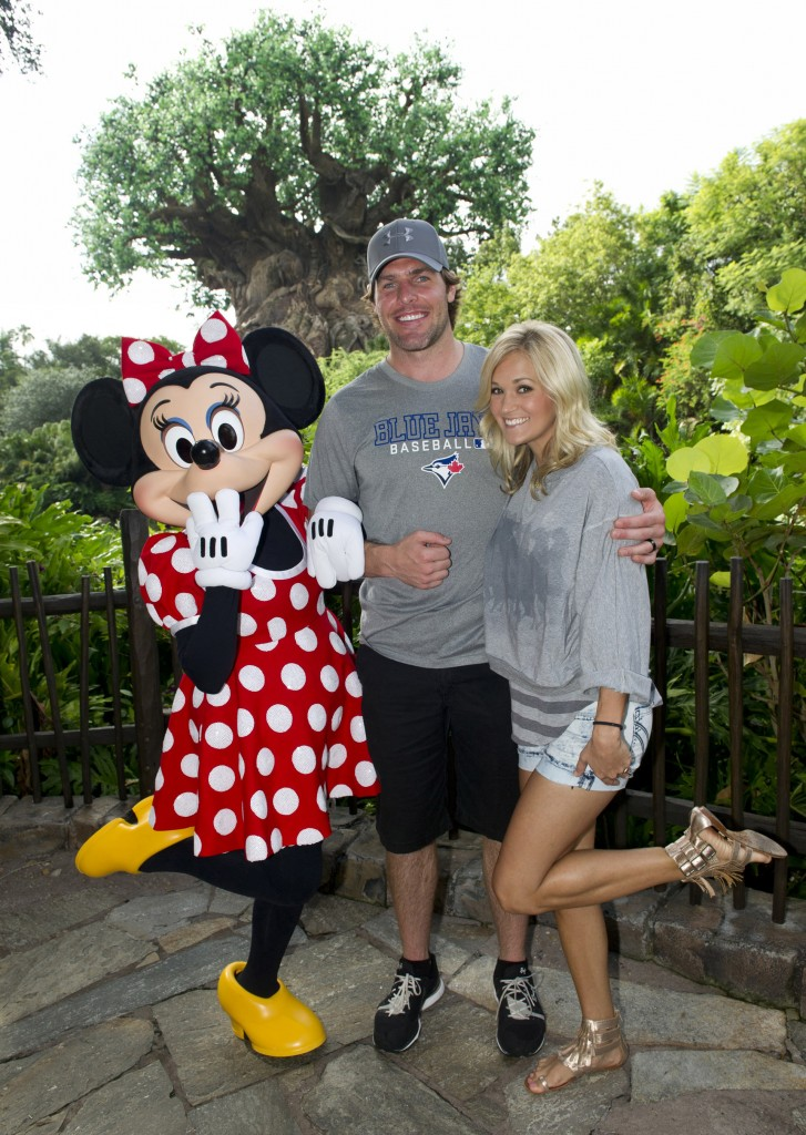 Carrie Underwood and Husband Mike Fisher Visit Walt Disney World