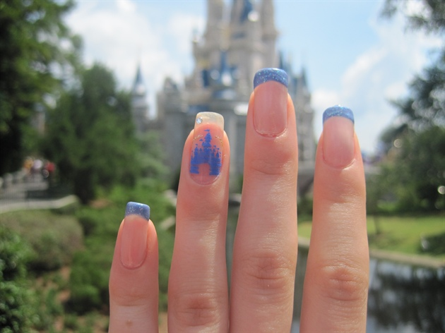 Cinderella Castle Walt Disney World Manicure