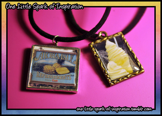 Disney Aloha Isle Dole Whip Necklaces