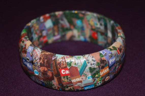 Disney California Adventure Map Bangle Bracelet