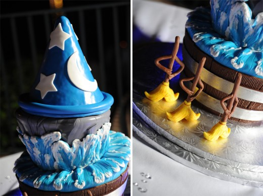 Disney Fantasia Brooms and Sorcerers Hat Cake