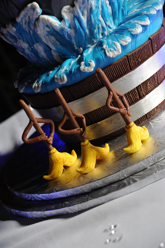 Disney Fantasia Brooms and Sorcerers Hat Wedding Cake