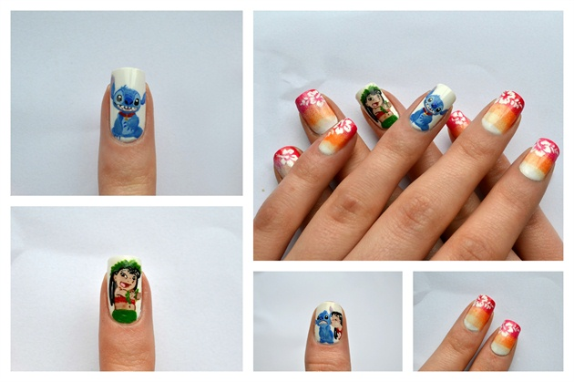 Disney Lilo and Stitch Manicure