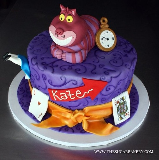 Disney Mad Hatter Cheshire Cat Wonderland Cake