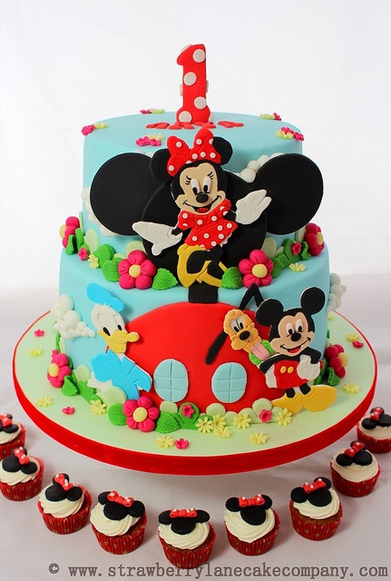 Super Disney Mickey Mouse Clubhouse Cake And Cupcakes Disney Every Day Personalised Birthday Cards Veneteletsinfo