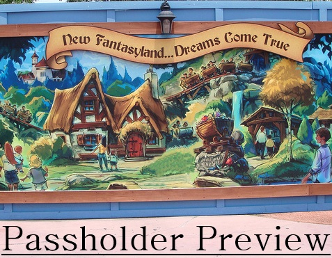 Fantasyland Disney Passholder Preview Set for November 2012