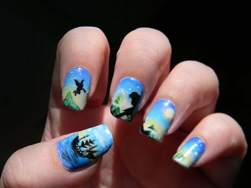 Disney Peter Pan Nail Art Manicure Disney Every Day