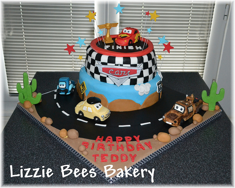 Cool Disney Pixar Cars Birthday Cake Disney Every Day Personalised Birthday Cards Cominlily Jamesorg