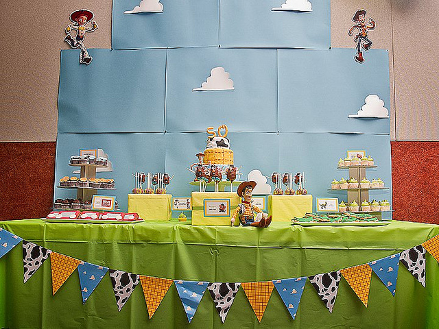 "Disney Pixar ""Toy Story"" Birthday Party Dessert Table"