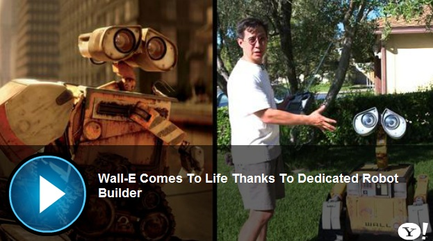 Fan Builds Disney WALL-E Robot