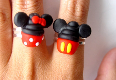 Mickey and Minnie Disney Cupcake Rings