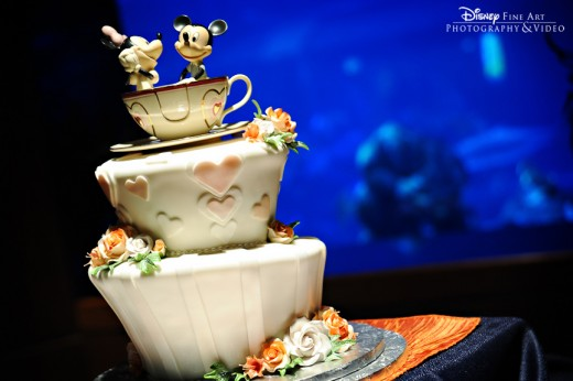 Mickey and Minnie Tea Cup Disney Wedding Cake
