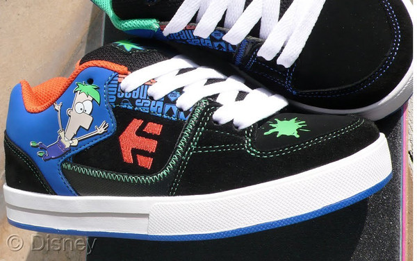 Phineas and Ferb Etnies Shoes