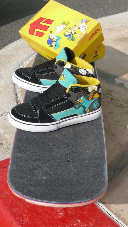 Phineas and Ferb Etnies Sneakers Featuring Perry the Platypus
