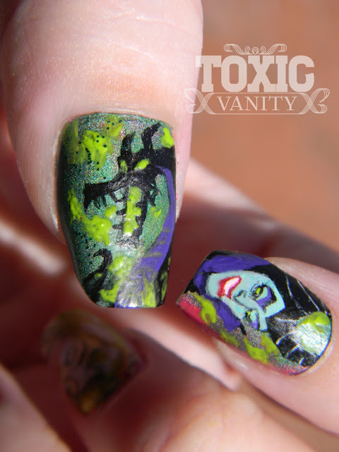 Sleeping Beauty Disney Manicure Maleficent Dragon