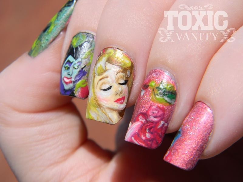 Sleeping Beauty Disney Manicure