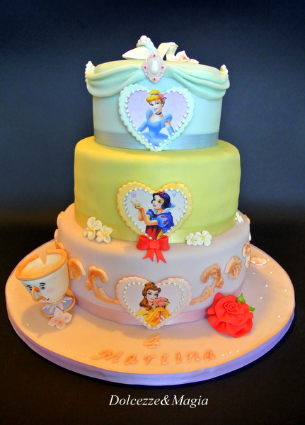 Three Layer Disney Princess Cake