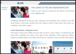 runDisney Blog New Website
