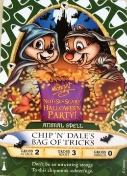 Chip dale sorcerer card halloween party bag tricks
