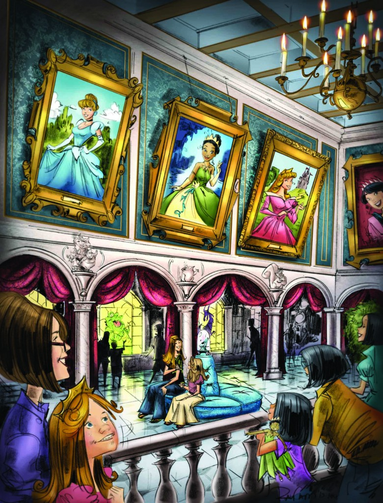 First Look – Concept Art for Princess Fairytale Hall in Disney's Fantasyland Expansion