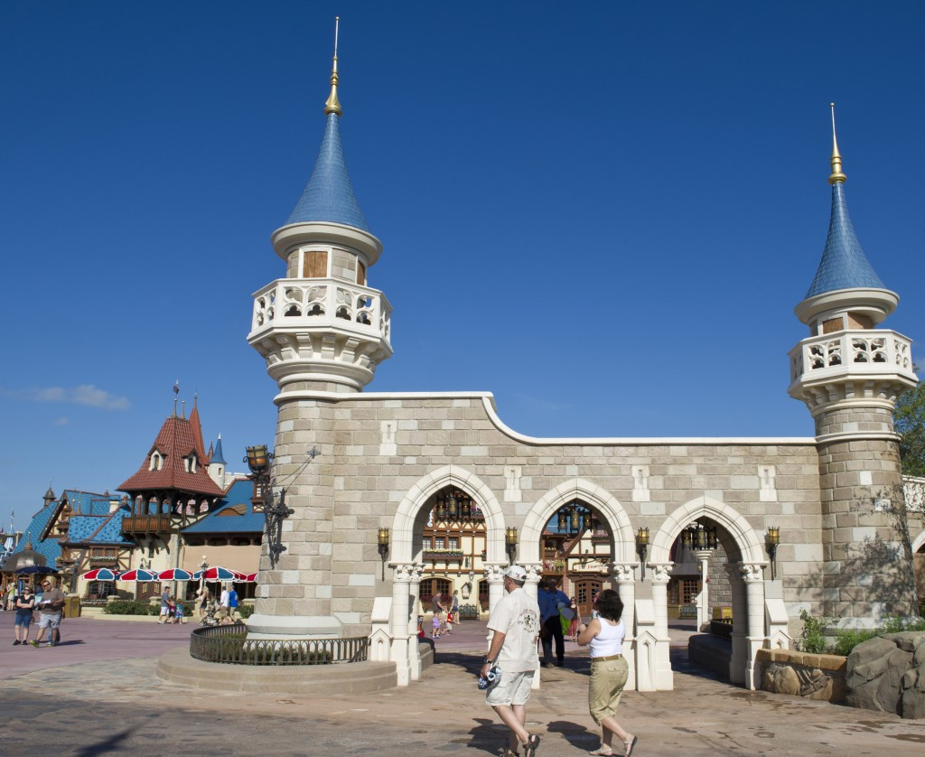 Construction Walls Removed to Reveal New Fantasyland Expansion Walls at the Magic Kingdom