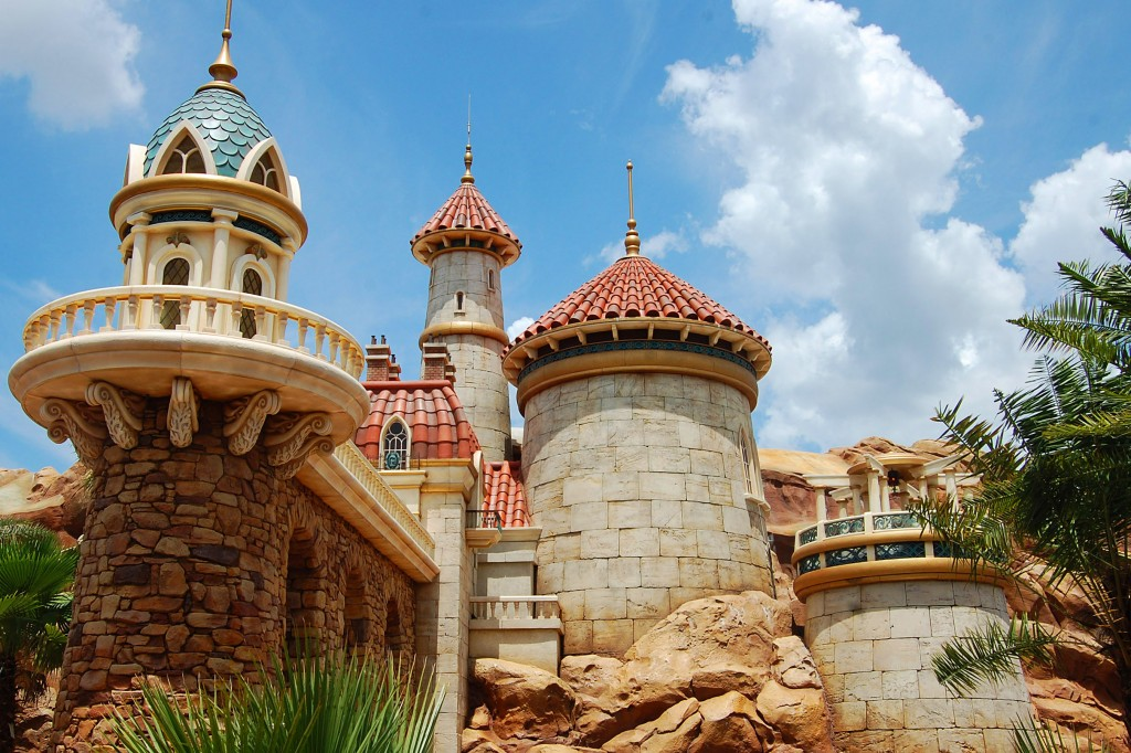 A Closer Look at Prince Eric's Castle at Journey of the Little Mermaid in Fantasyland