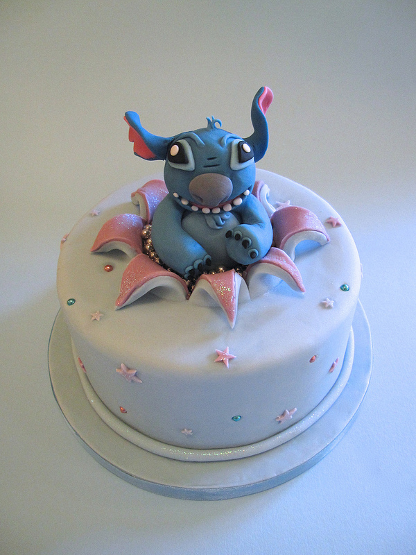 Stitch Busting Out of a Disney Birthday Cake