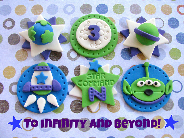 Buzz Lightyear Star Command Disney Cupcake Toppers