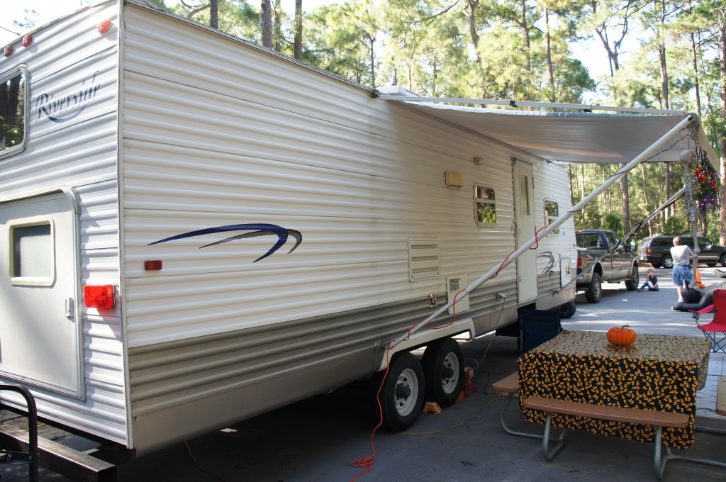 meachams travel trailer RV Rental Florida disney fort wilderness