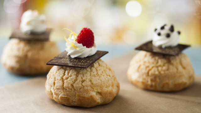 First Look – Disney's Be Our Guest Restaurant Mousse Filled Cream Puffs