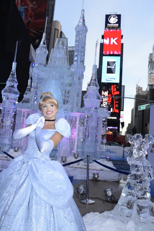 Disney Ice Castle Cinderella New York Times Square