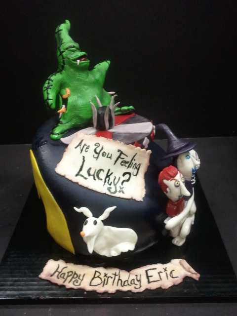 Disney Nightmare Before Christmas Birthday Cake Oogie Boogie
