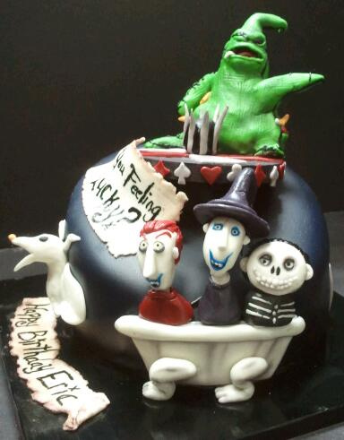Disney Nightmare Before Christmas Birthday Cake