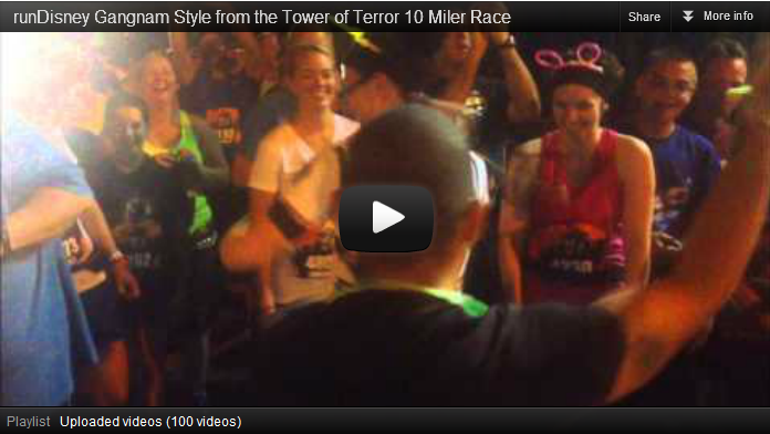 Impromptu Dance Party in Our Corral at the runDisney Tower of Terror 10 Miler