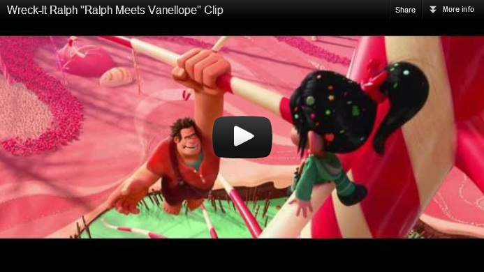 Wreck it ralph meets vanellope disney movie clip