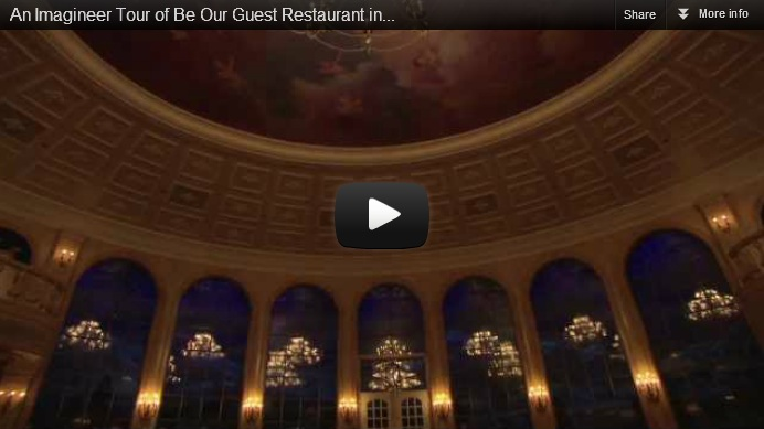 an imagineer tour of be our guest restaurant in new fantasyland