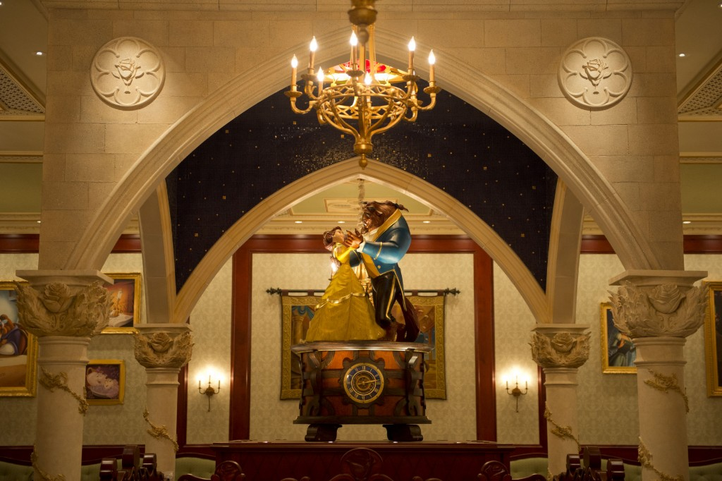 First Look at Disney's Be Our Guest Restaurant Rose Gallery Dining Room